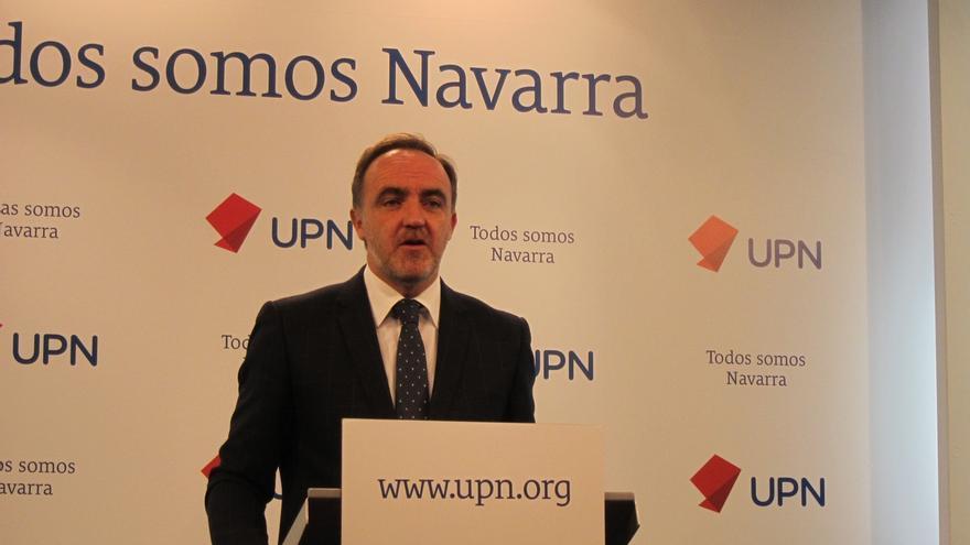 """Esparza dice que """"Bildu, con el permiso de Barkos, ha conseguido su objetivo: parar el Canal de Navarra"""""""