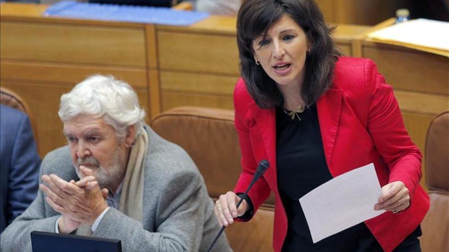 Yolanda Díaz, coportavoz parlamentaria de AGE, pide la dimisión de la ministra de Trabajo