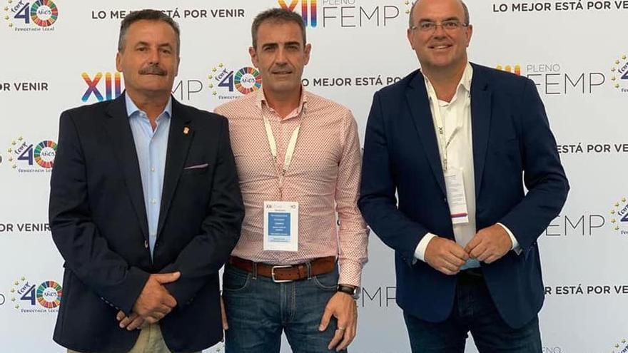 Vicente Rodríguez, Francisco Paz y Anselmo Pestana.