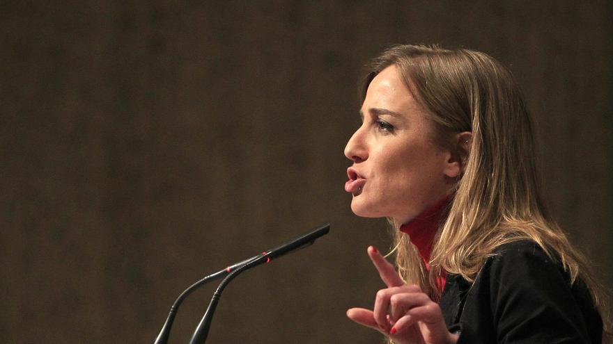 La excandidata por IU Tania Sánchez durante su discurso en el acto de Convocatoria por Madrid. \ Marta Jara