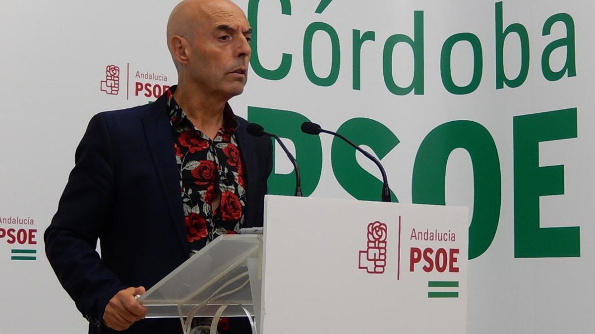 Antonio Hurtado, en comparecencia de prensa.