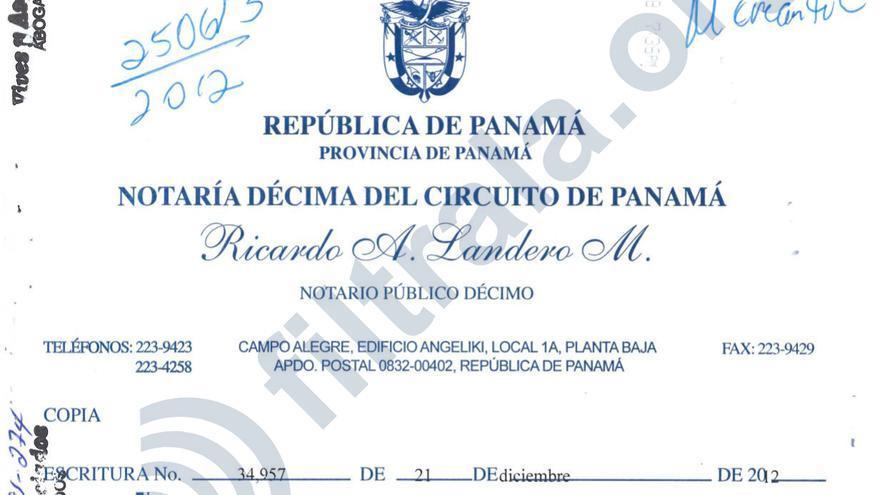 Acta de disolución de Bodeman Enterprises en Panamá, la sociedad offshore de Antonio Gallardo Ballart