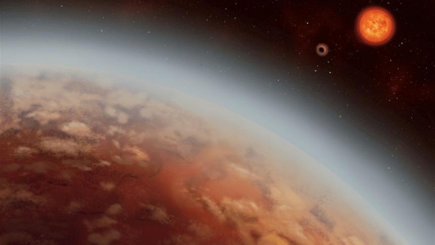 Indicios de condensación de vapor de agua en un mundo en zona habitable