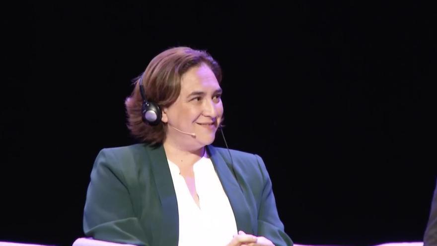 La alcaldesa de Barcelona, Ada Colau, en un debate de Eurocities en Bruselas, el 20 de marzo de 2019.