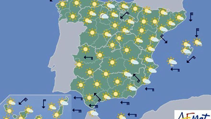 Hoy, viento fuerte en Cádiz, litoral de Almería, Gerona y Menorca