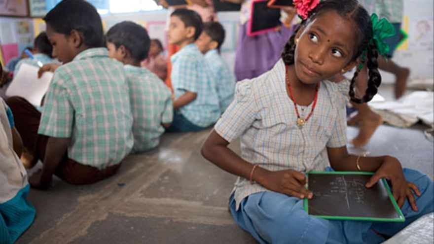 Programa de alfabetización en India de la Fundación Vicente Ferrer