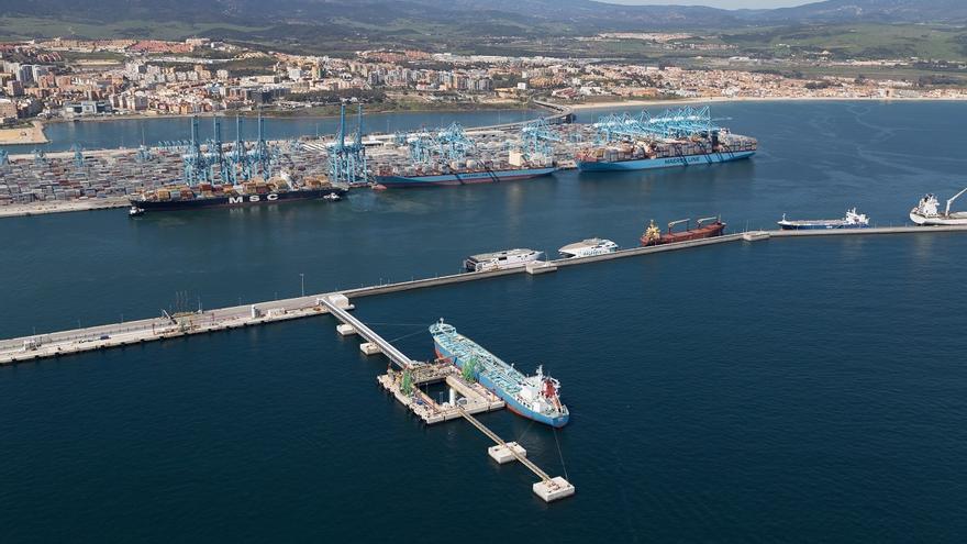 El Puerto de Algeciras, uno de los motores de la economía de la comarca.