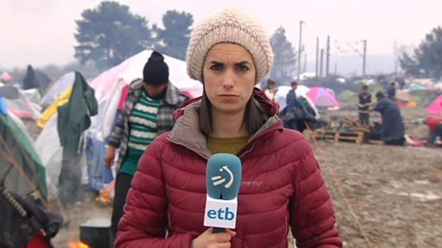 La periodista de ETB Ane Irazabal.
