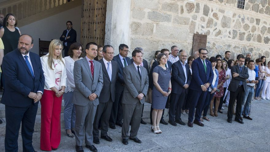 Minuto de silencio del Gobierno de Castilla-La Mancha
