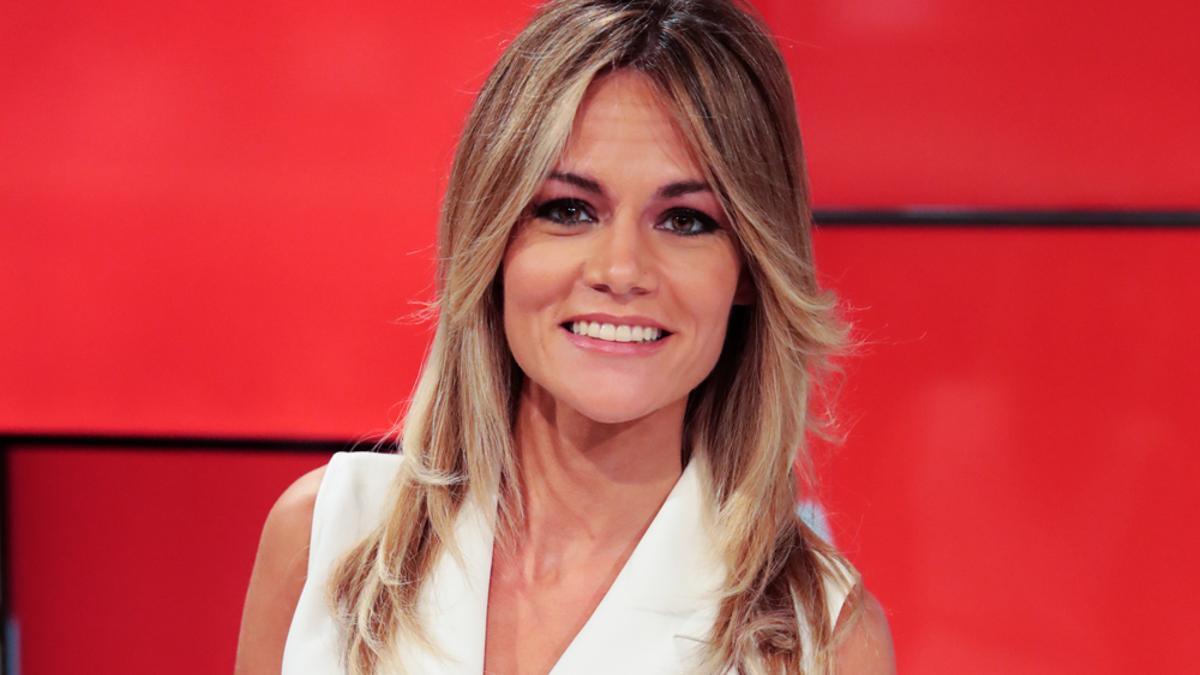Rocío Delgado en los platós de Telemadrid