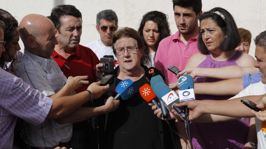Juana Vacas en su comparecencia ante los medios después de conocerse la sentencia. FOTO: Paco Navas