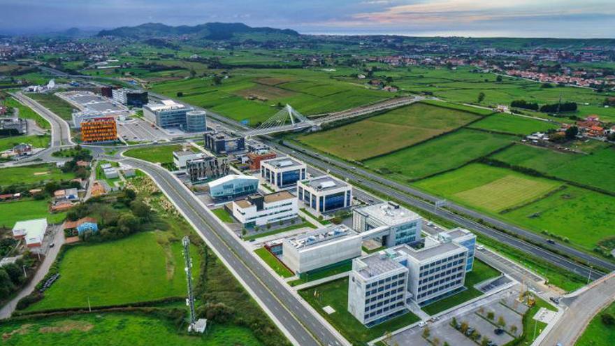 Imagen aérea del Parque Científico y Tecnológico de Cantabria. | PCTCAN