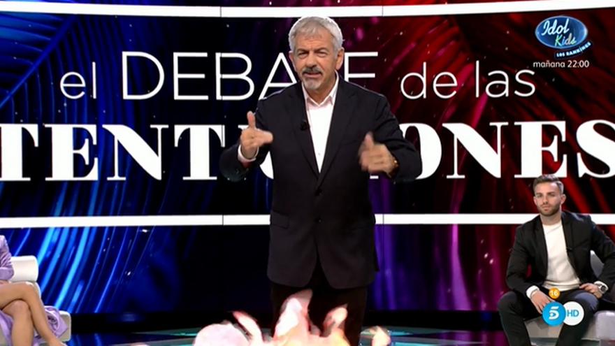Carlos Sobera en el 'Debate de las tentaciones 2'