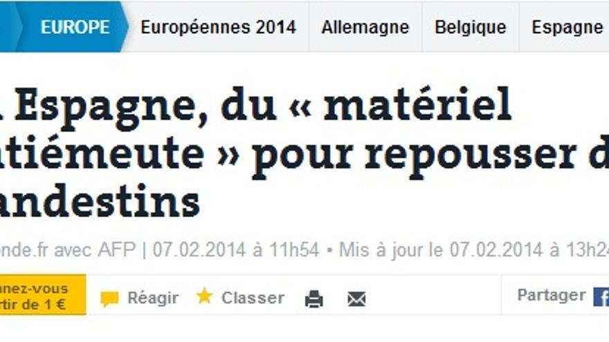 Artículo en el periódico francés Le Monde.