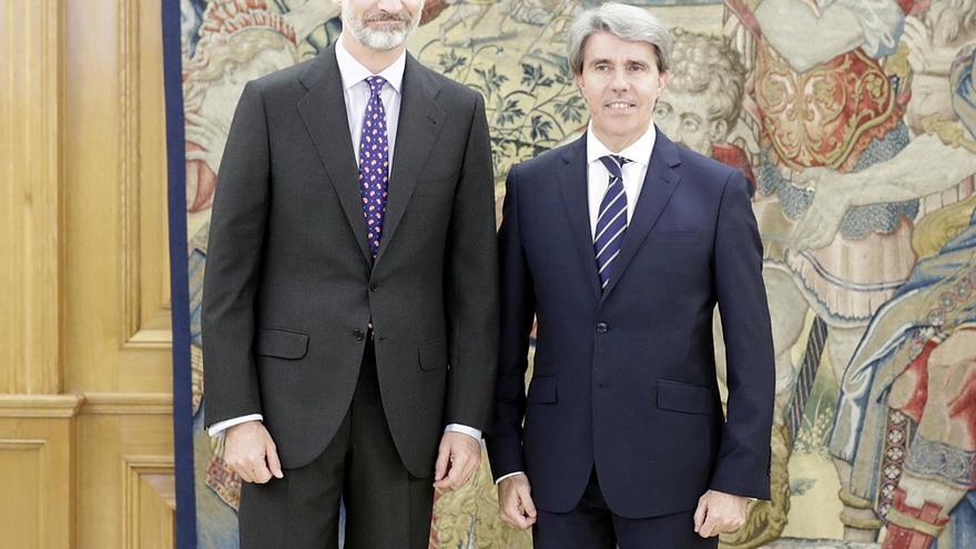 """Ángel Garrido traslada al Rey su voluntad de trabajar """"por Madrid y por España"""""""