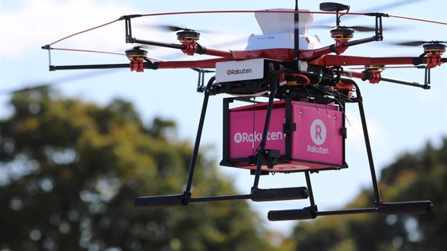 Drones llevan comida a una ciudad afectada por el desastre de Fukushima