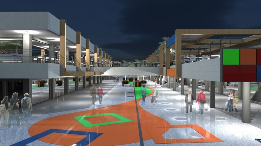 Nueva Canarias reclama la bonificación del IBI para los locales del Centro comercial de Puerto Rico afectados por las obras de remodelación