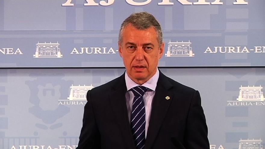 """Urkullu insta al Govern a """"no dejar el destino de Cataluña"""" en una """"escalada que no conduce a ningún futuro"""""""