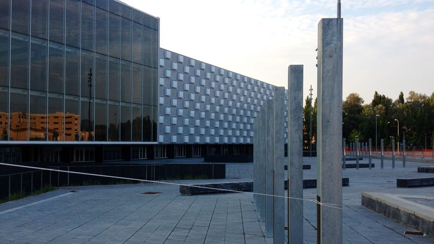 El pabellón Reyno Arena, situado junto al estadio El Sadar.