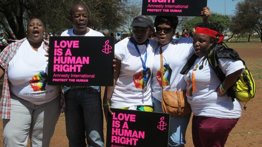 Marcha del orgullo en Soweto, Sudáfrica, septiembre de 2012 © Amnesty International