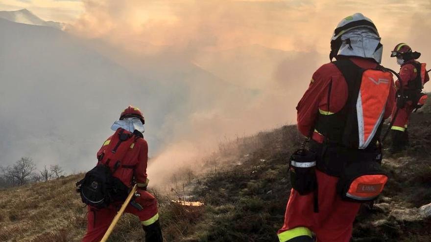 Los incendios forestales se redujeron un 41% en Cantabria en 2018 y la superficie quemada un 59%