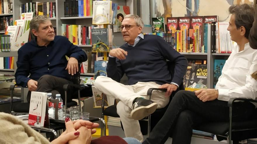 Xavier Melero durante la presentación de su libro