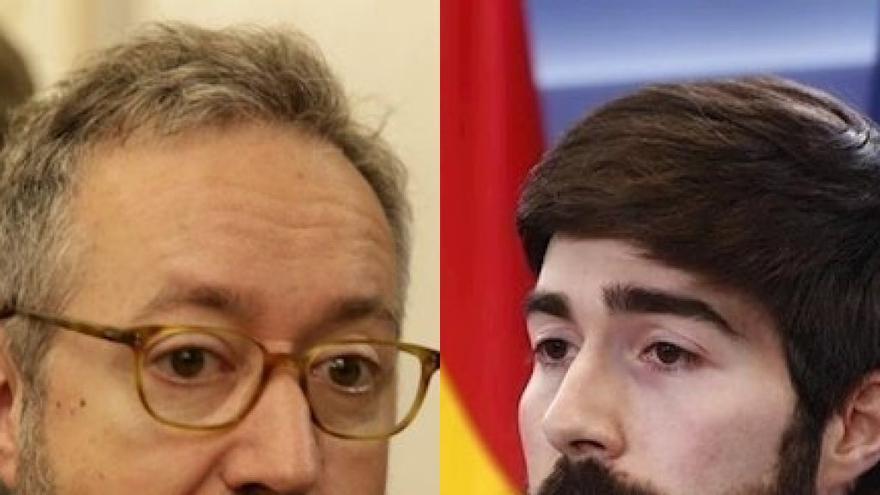 De izquierda a derecha, Juan Carlos Girauta y Manuel Mariscal