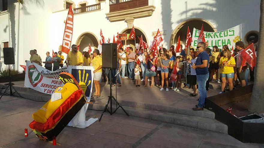 Protesta de trabajadores de Correos