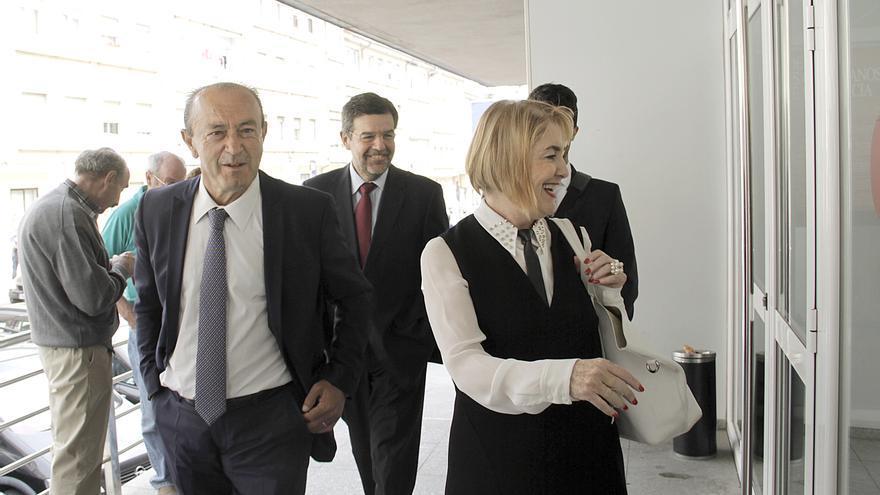 Marcano y Agudo acuden a declarar por el juicio del 'caso Racing'. | ROMÁN GARCÍA