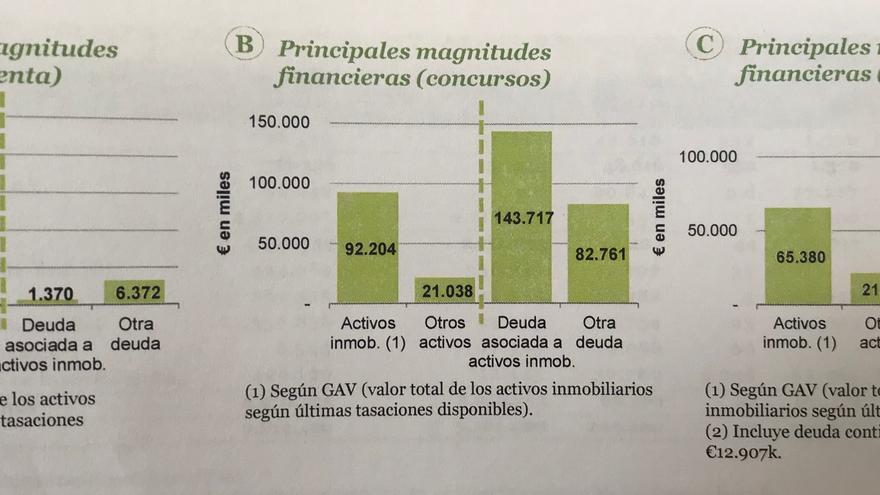 """Activos y deuda de la cartera """"Julia""""."""