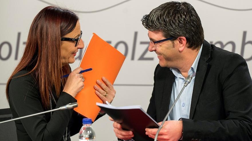 Maria Josep Amigó (Compromís) y Jorge Rodríguez (PSPV)