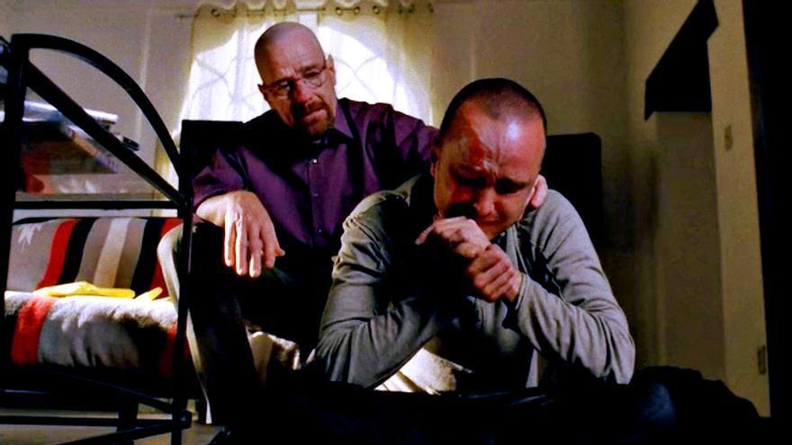 Bryan Cranston y Aaron Paul en Breaking Bad
