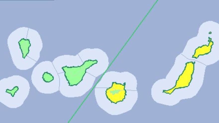 Aviso amarillo en Las Palmas para el viernes 13 de octubre