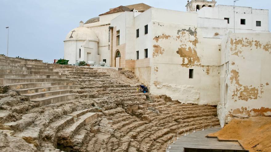 Gradas del Teatro Romano de Cádiz, el segundo más grande de España. VA