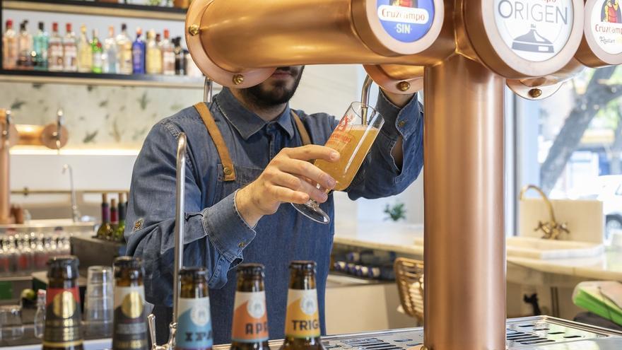 Grifos de cerveza Cruzcampo