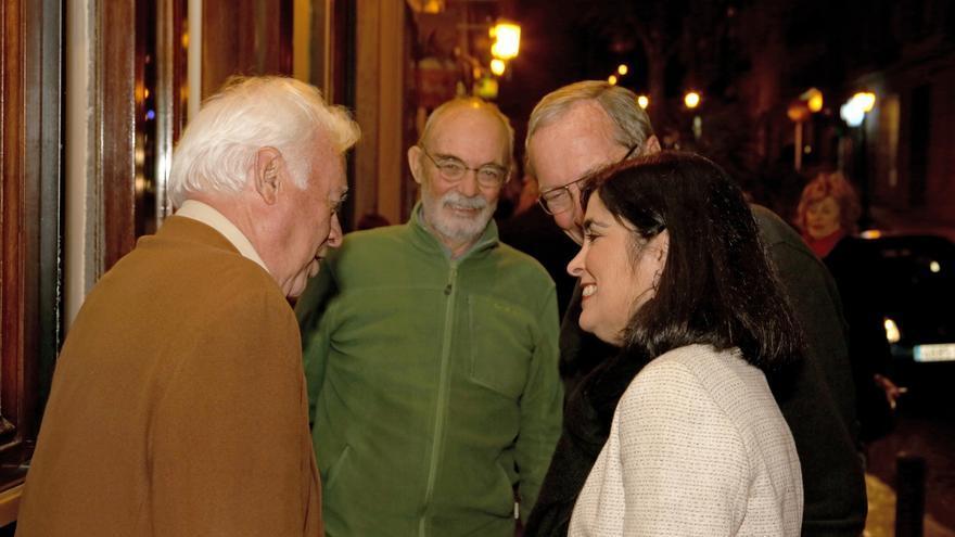 Miembros y simpatizantes del PSOE en el acto de Zapatero