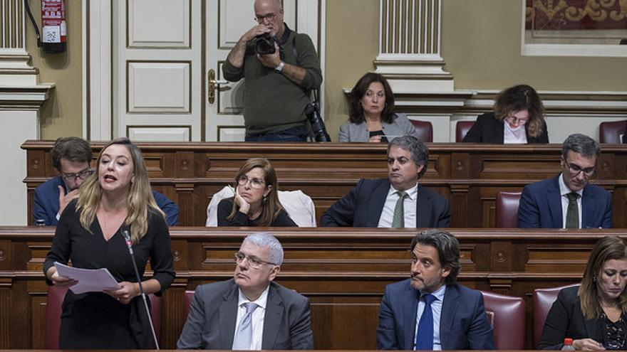 Bancada socialista en el Parlamento de Canarias