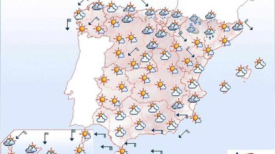 Mañana, continúa el viento fuerte en Galicia, Ampurdán, Estrecho y Canarias