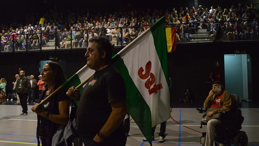 El acto previo a las protestas en los Premios Príncipe de Asturias, del que participaron varios partidos políticos.