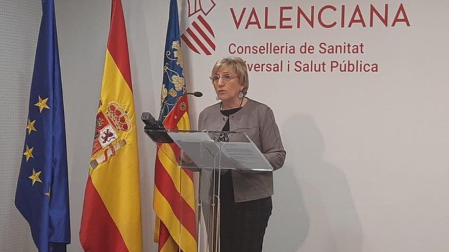 La consellera de Sanidad, Ana Barceló, durante su comparecencia para hacer balance de la crisis del coronavirus.