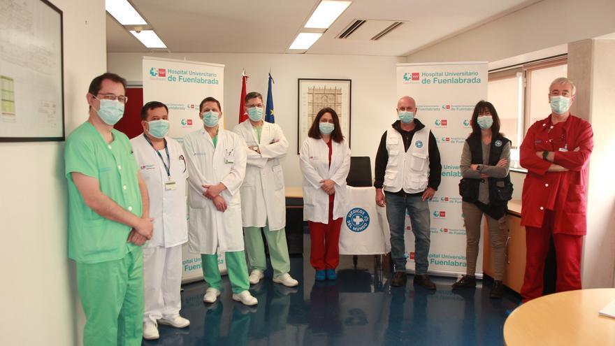 El equipo del hospital de Fuenlabrada y el de Médicos del Mundo.