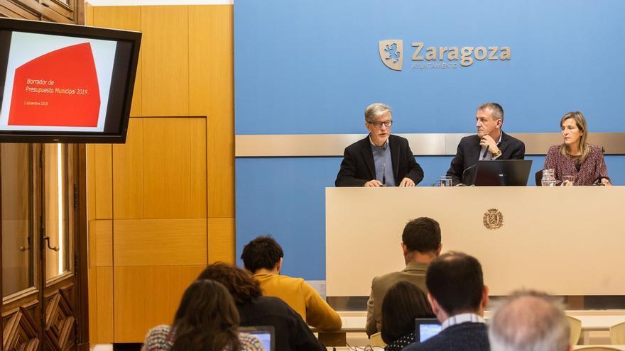 Presentación del borrador de presupuestos en el Ayuntamiento de Zaragoza
