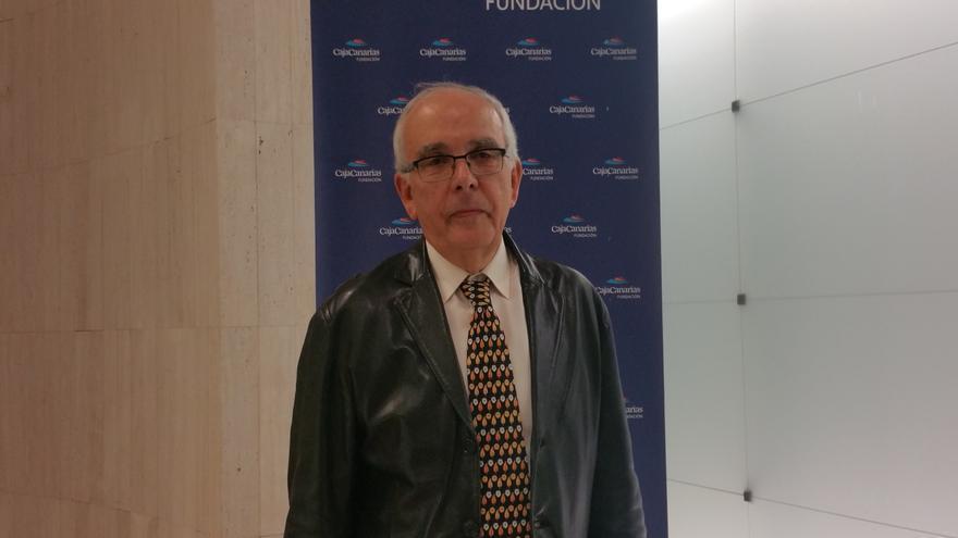 José Manuel Méndez este martes en el Espacio Cultural de CajaCanarias. Foto: LUZ RODRÍGUEZ