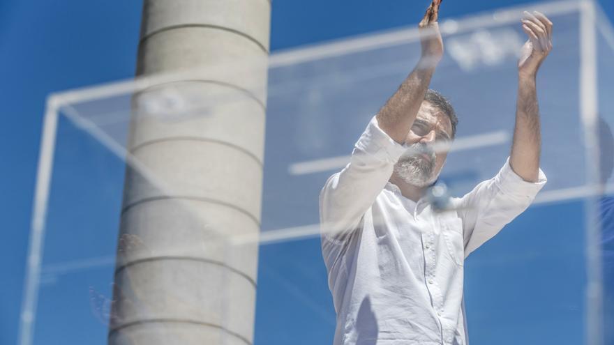 Jordi Cuixart, en un acto de campaña para el referéndum del 1-O.