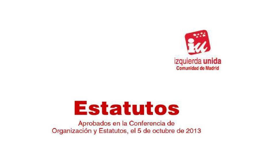 Estatutos de Izquierda Unida en la Comunidad de Madrid
