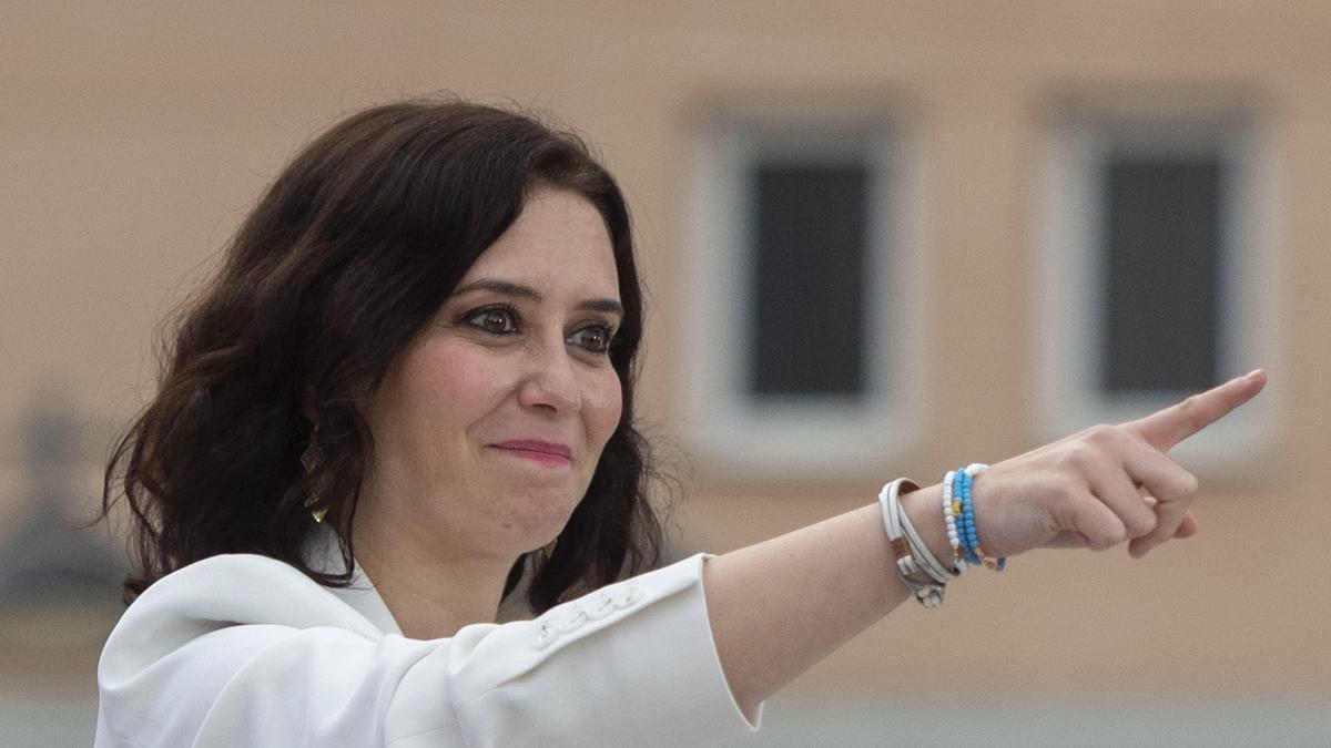La candidata del PP, Isabel Díaz Ayuso.