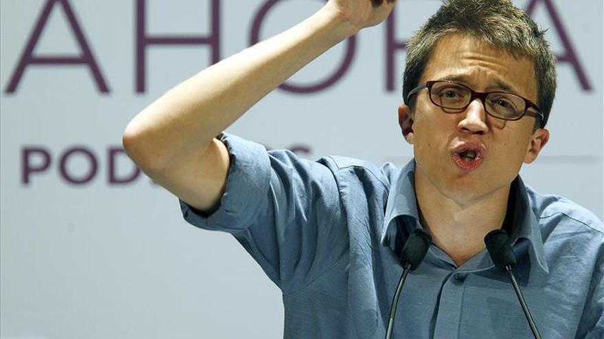 Íñigo Errejón durante su intervención en el mitin celebrado en Santander. | Foto: ESTEBAN COBO
