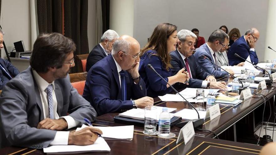 Comisión General de Cabildos del Parlamento de Canarias en la que se debate el proyecto de la ley del suelo. EFE/Ramón de la Rocha