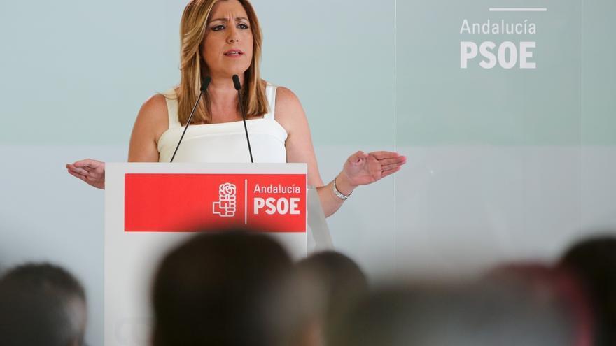 Susana Díaz asiste este lunes a la primera reunión de la Ejecutiva del PSOE-A del nuevo curso político