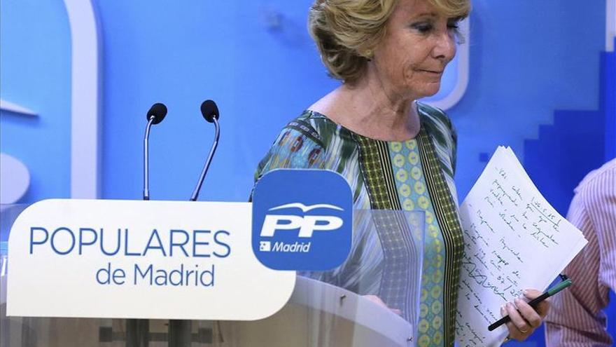 La presidenta del PP de Madrid y candidata a la Alcaldía de la capital, Esperanza Aguirre. / Efe